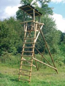 Ansitzleiter 4m freistehend Dachaufbau